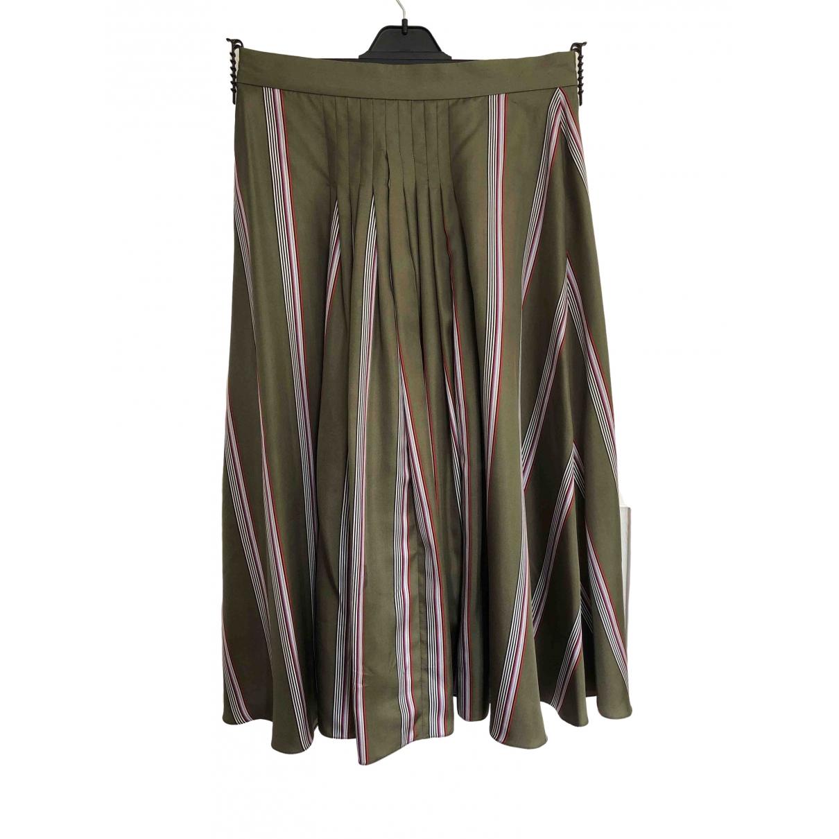 Roksanda \N Khaki Silk skirt for Women 14 UK