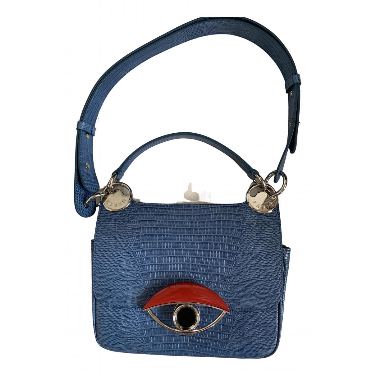 Kenzo - Pochette   pour femme en cuir - bleu