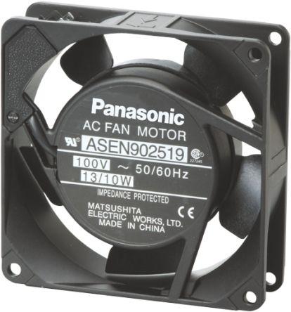 Panasonic , 230 V ac, ac Axial Fan, 92 x 92 x 25mm, 0.98m³/min, 10W