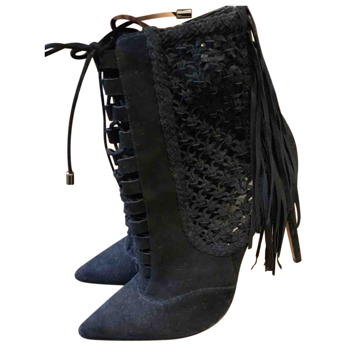 Alexandre Birman N Black Suede Boots for Women 38.5 EU