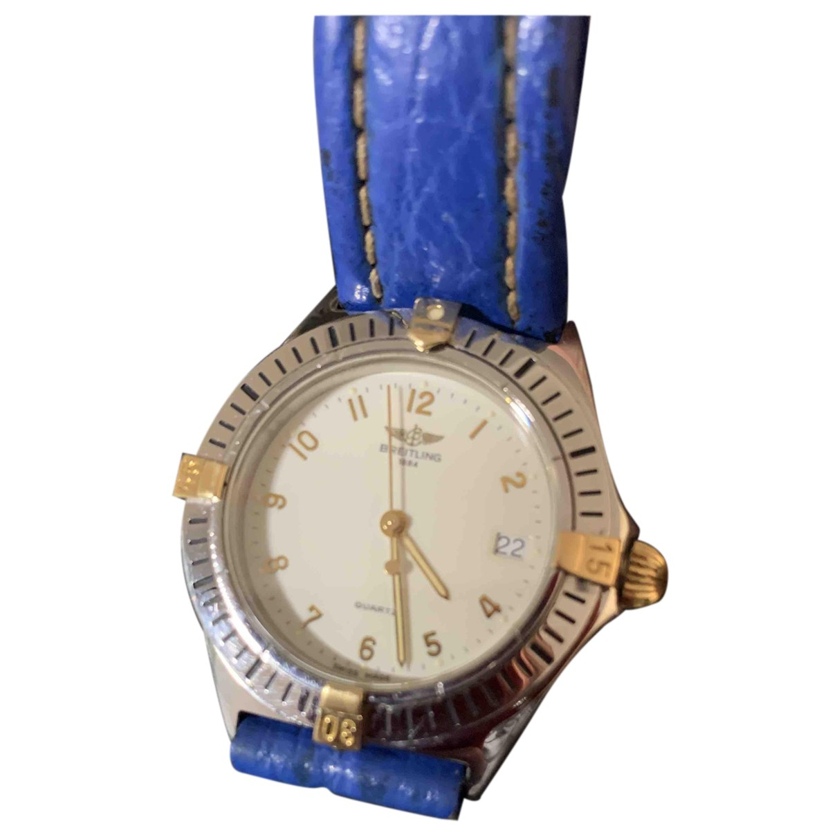 Breitling N Blue gold and steel watch for Women N