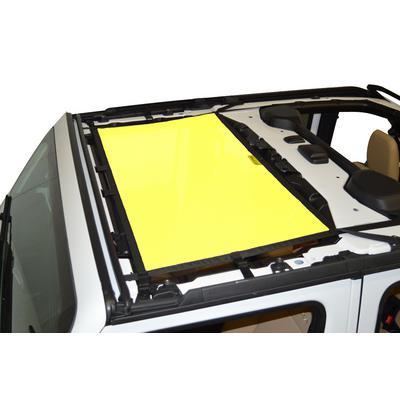 DirtyDog 4x4 Front Sun Screen (Yellow) - JL4S18F1YL