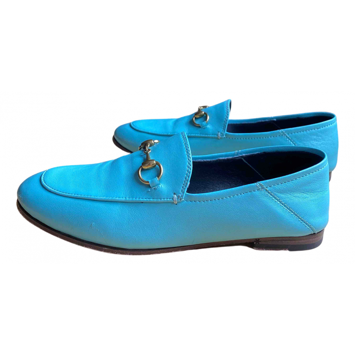 Gucci Brixton Mokassins in  Blau Leder
