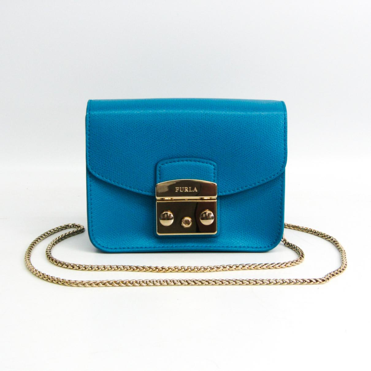 Furla - Sac a main Metropolis pour femme en cuir - bleu