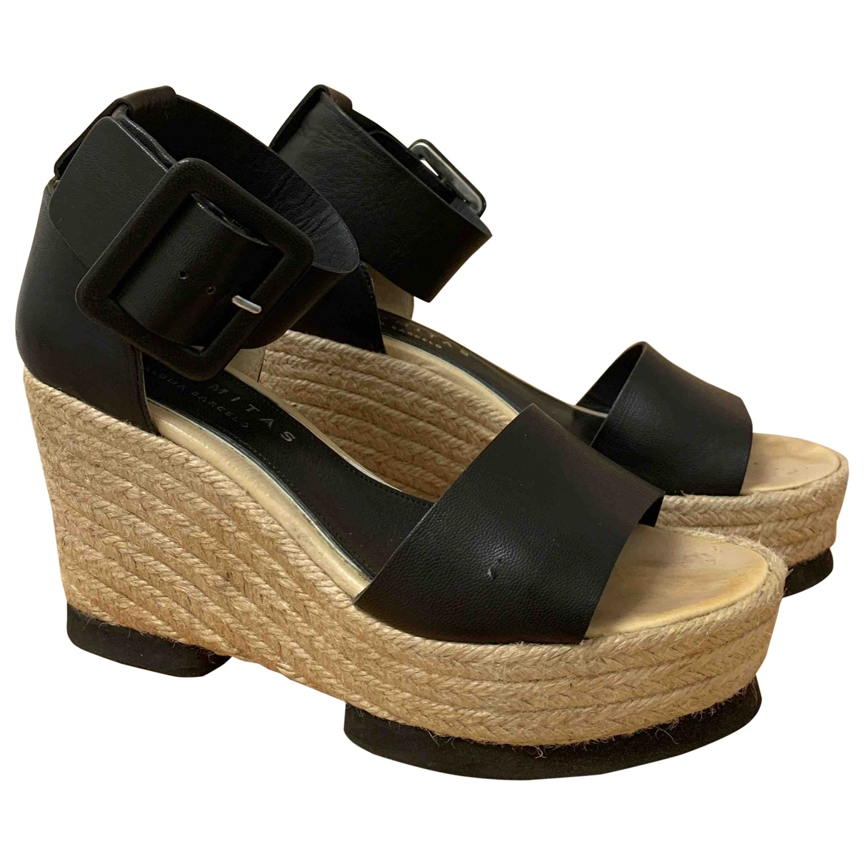 Paloma Barcelo \N Black Leather Sandals for Women 40 EU