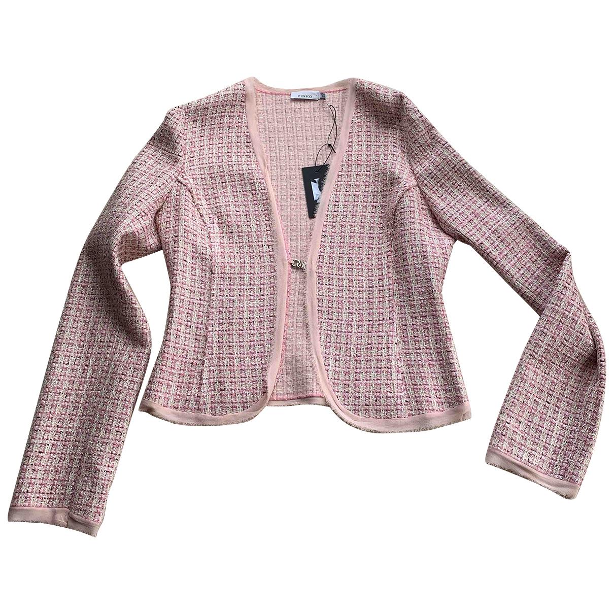 Pinko - Veste   pour femme en soie - rose