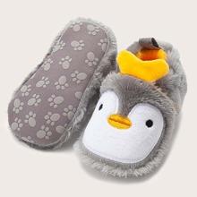 Baby Girl Penguin Design Fluffy Flats