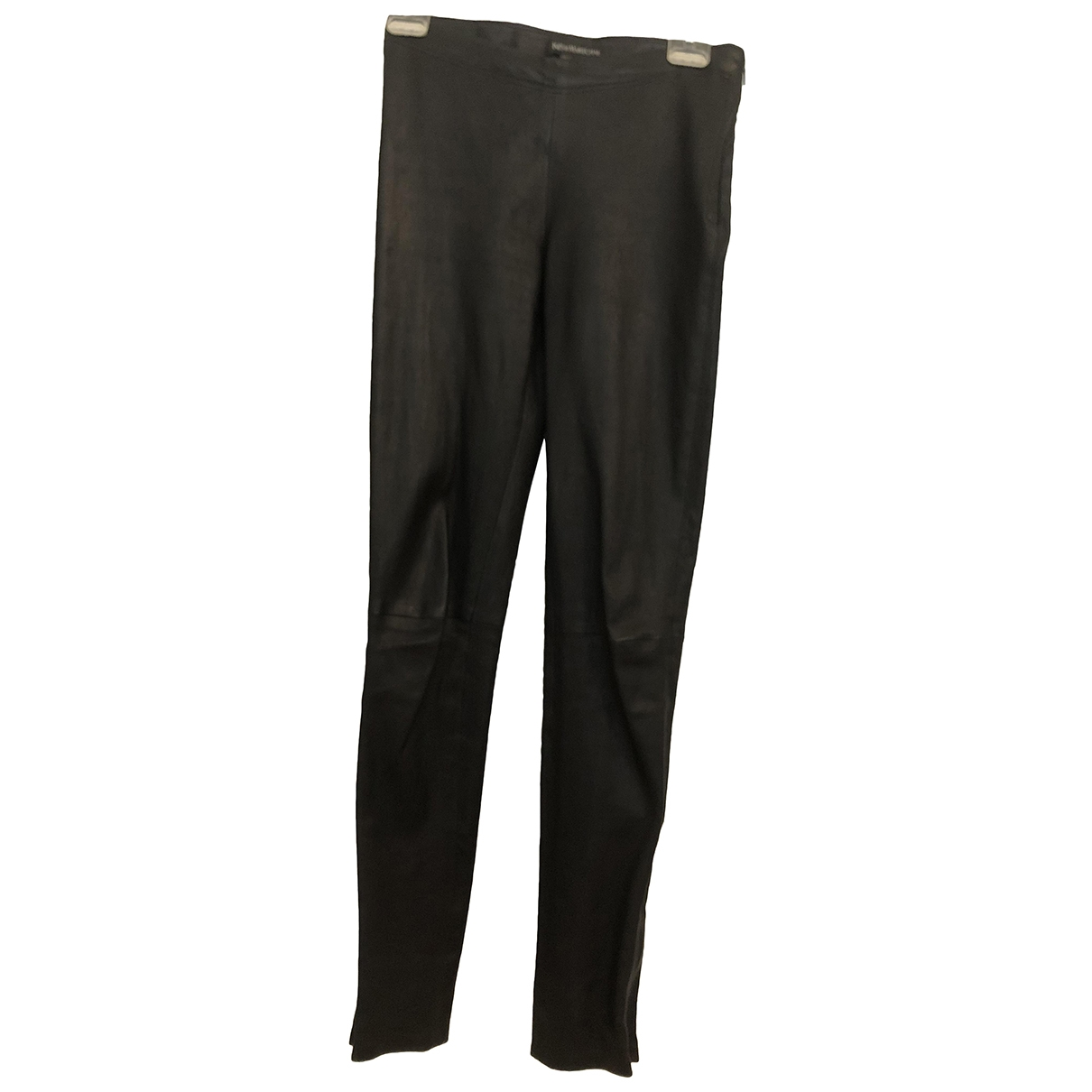 Ines Et Marechal \N Black Leather Trousers for Women 38 FR