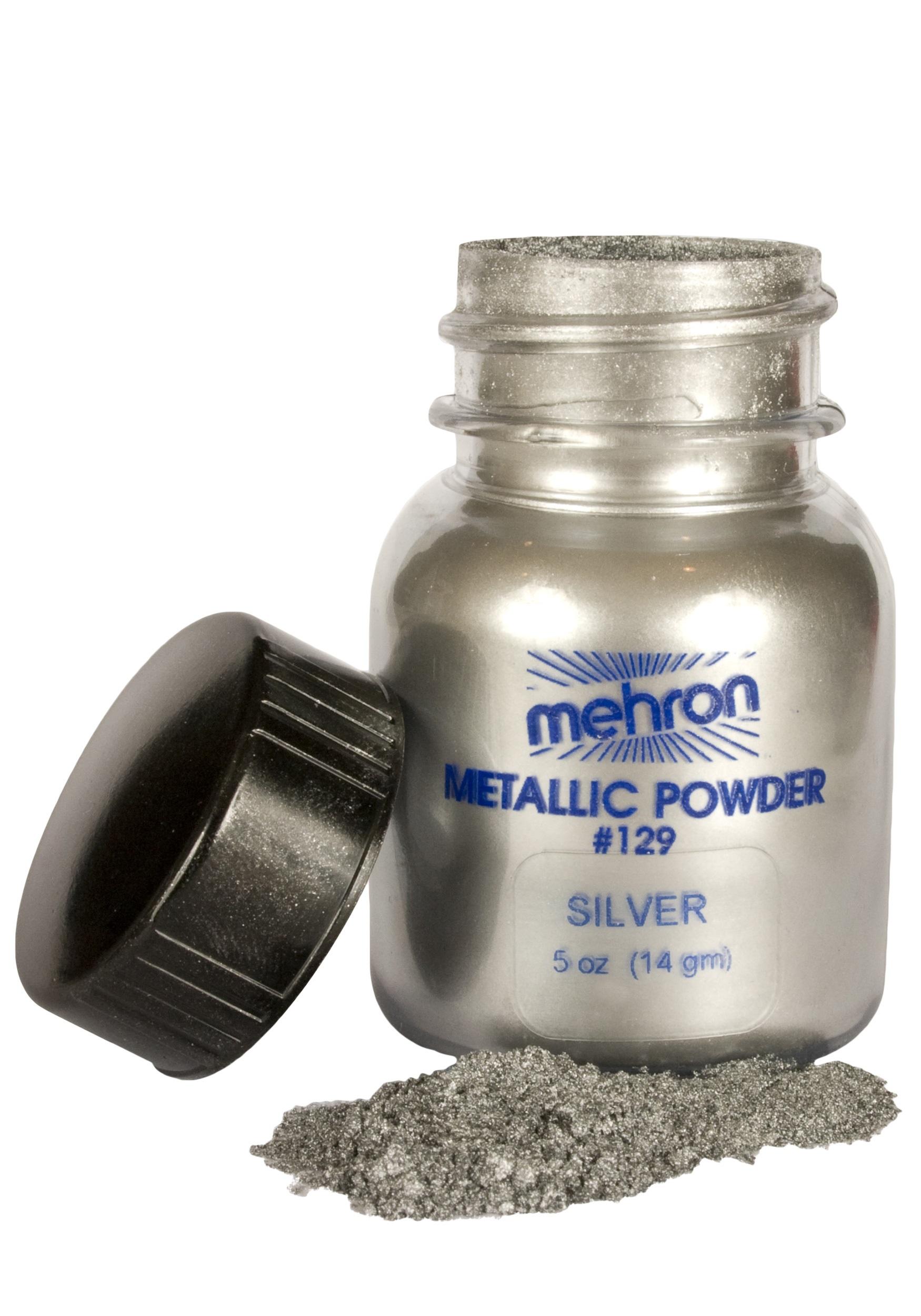 Mehron Silver Metallic Powder Makeup
