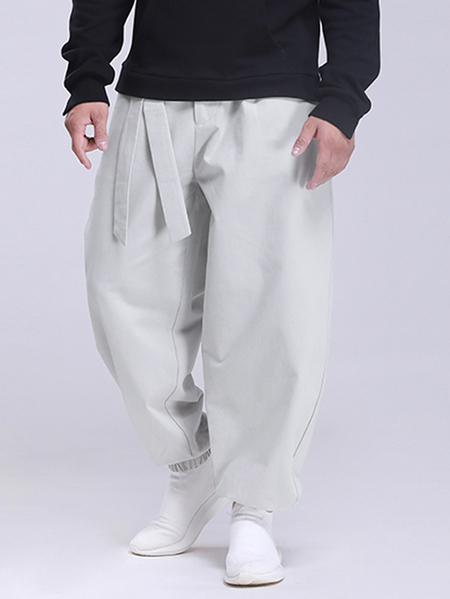 Yoins Men Vintage Chinese Style Loose Knotted Casual Pants