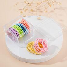 50pcs Toddler Girls Colorful Hair Tie