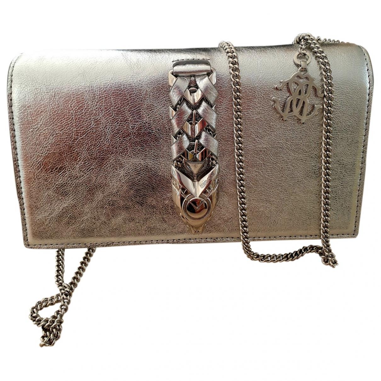 Roberto Cavalli \N Handtasche in  Silber Leder