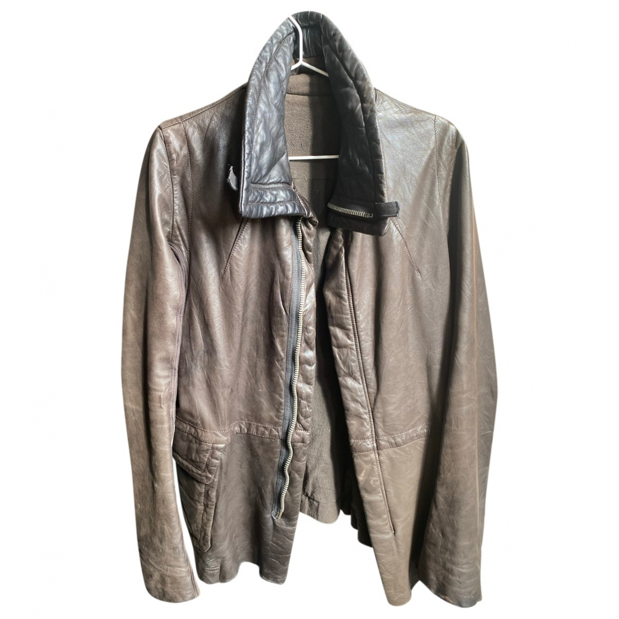 Rick Owens \N Brown Leather jacket for Women 42 FR