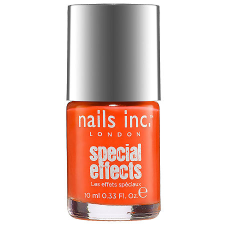 NAILS INC. Special Effects Neon Crackle Top Coat, One Size , Orange