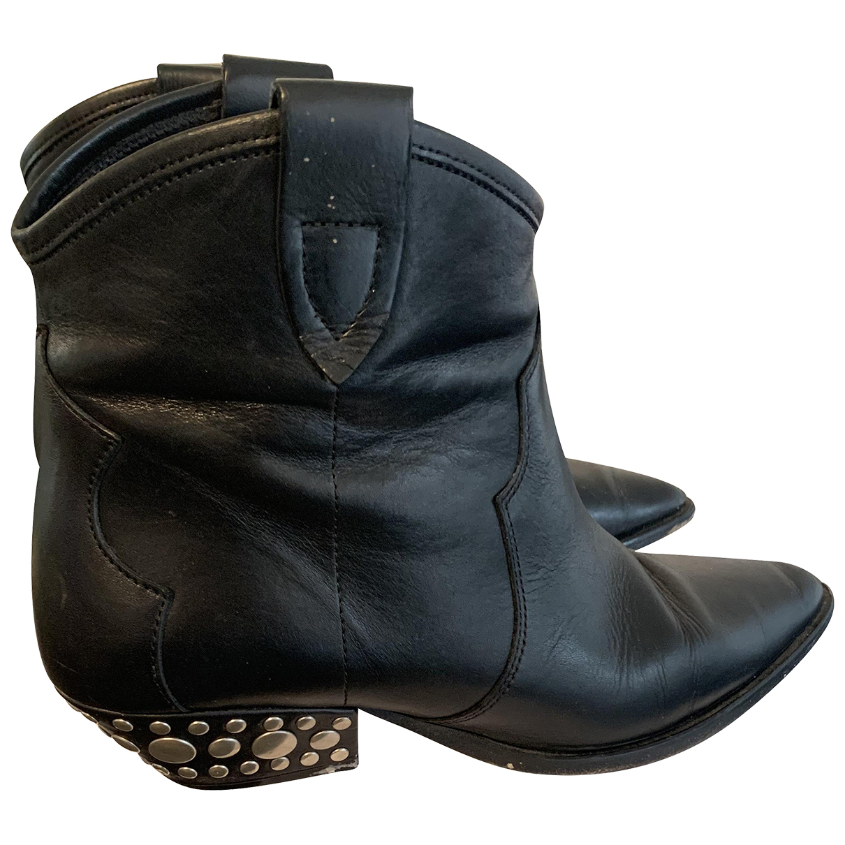 Isabel Marant N Black Leather Ankle boots for Women 40 EU