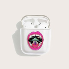 1 Stueck Airpods Huelle mit Lippe Muster