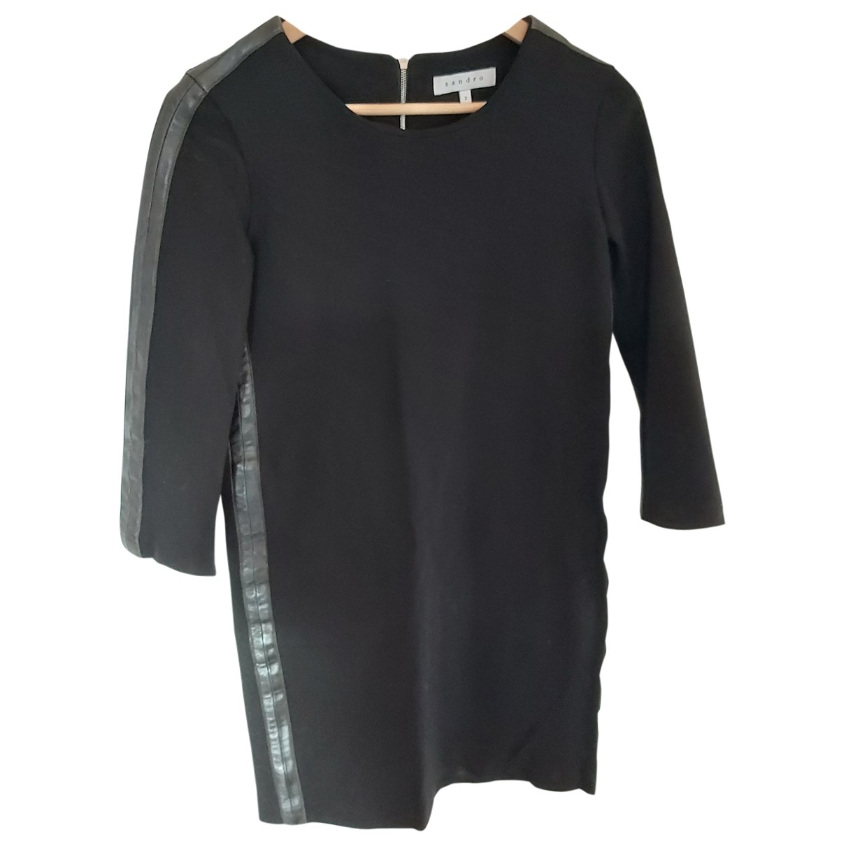 Sandro - Robe Fall Winter 2019 pour femme en cuir - noir