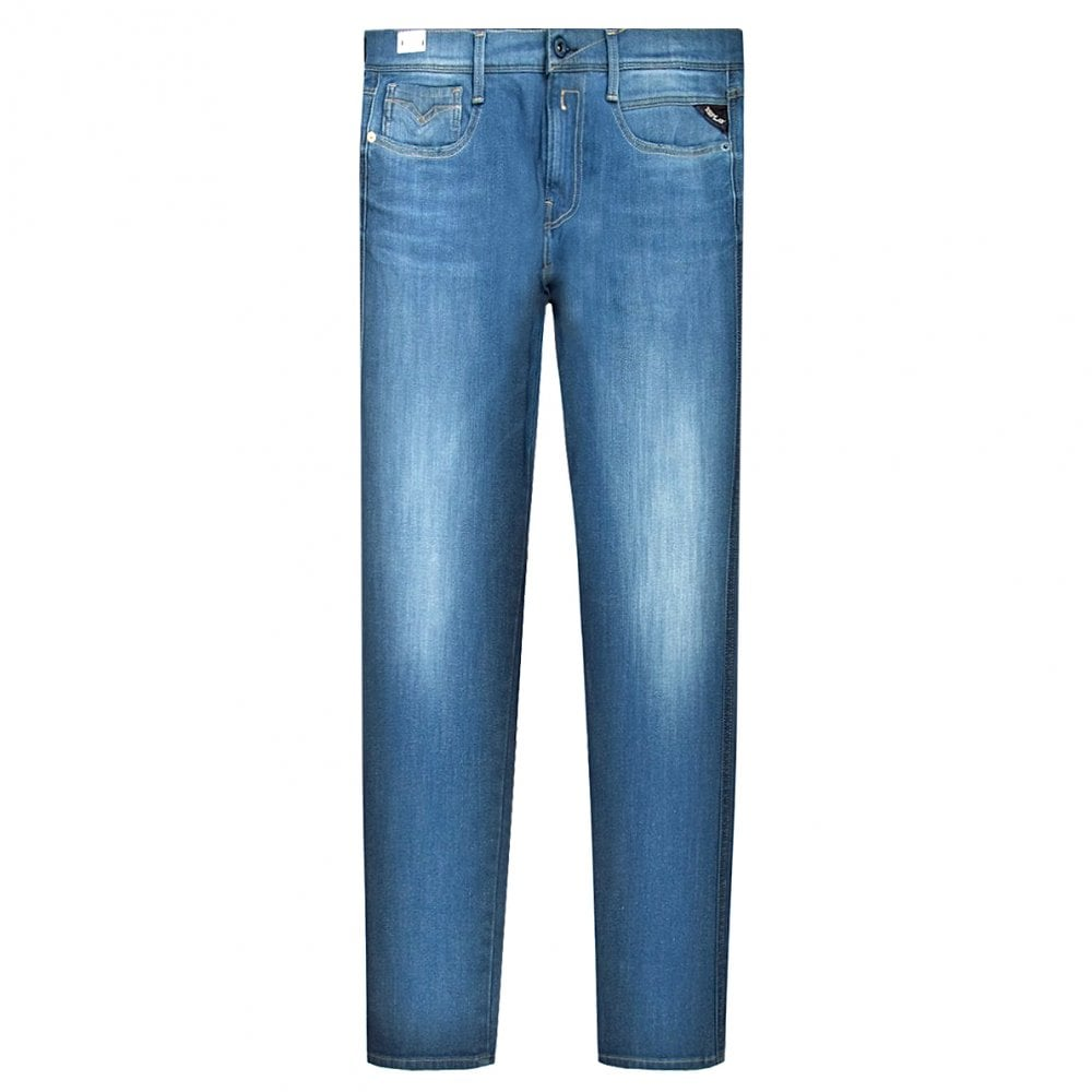 Replay Anbass Hyperflex+ Jeans Colour: LIGHT BLUE, Size: 34 34