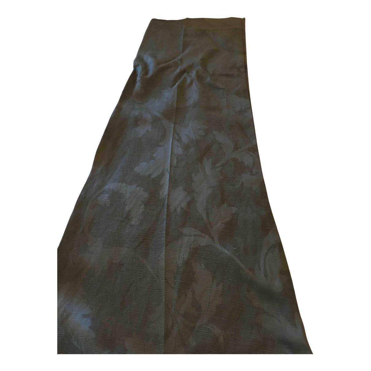 Jucca \N Black Linen Trousers for Women 42 IT