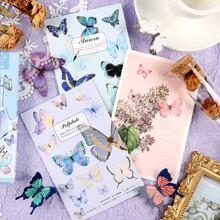 30 Blaetter Postkarte mit Schmetterling Muster