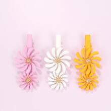 3 piezas clip de pelo floral