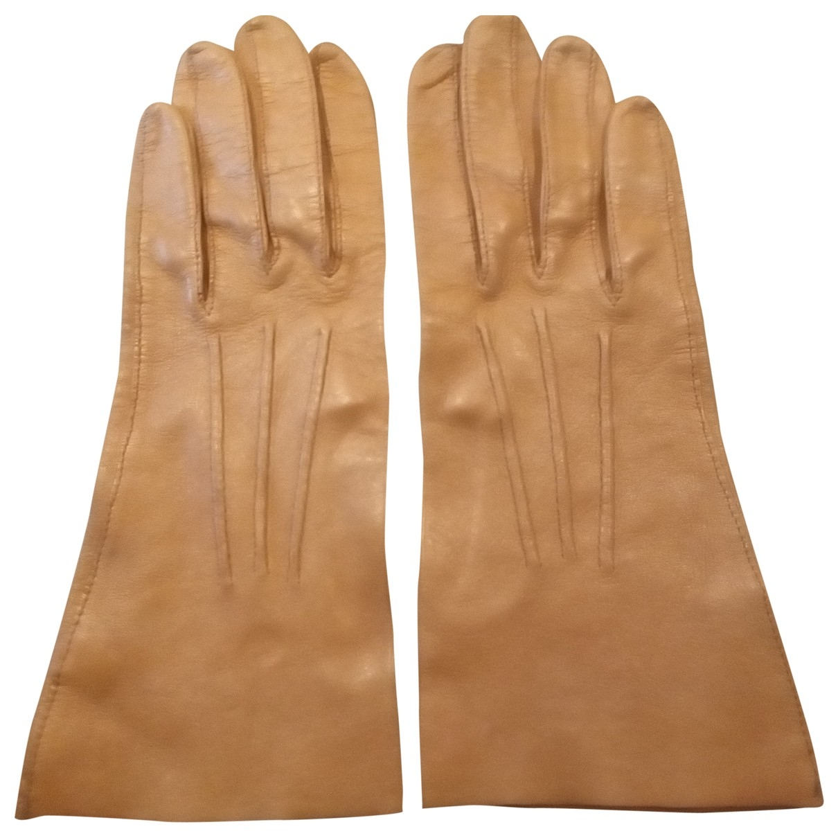 Alaïa \N Camel Leather Gloves for Women 6.5 Inches