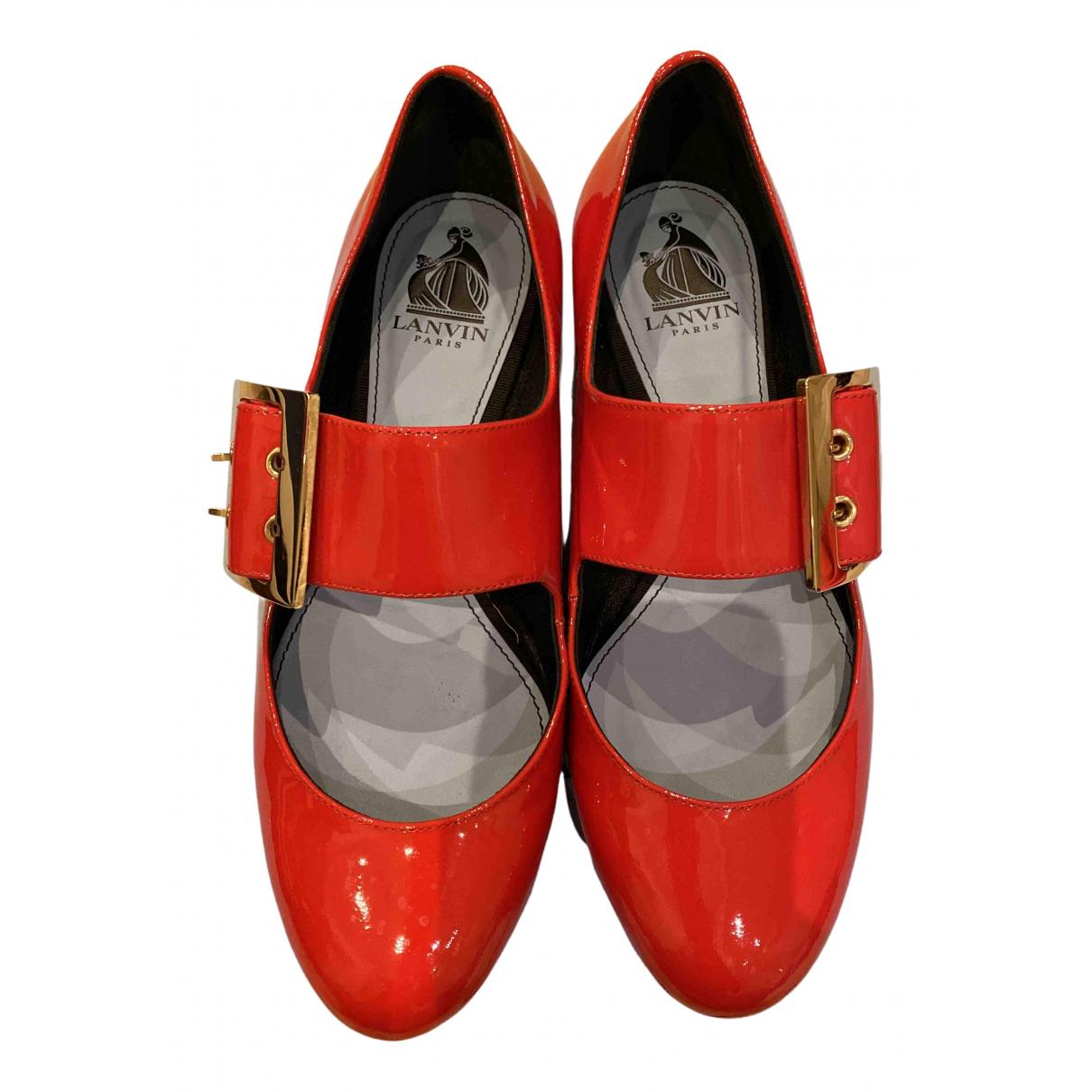 Lanvin \N Ballerinas in  Rot Leder