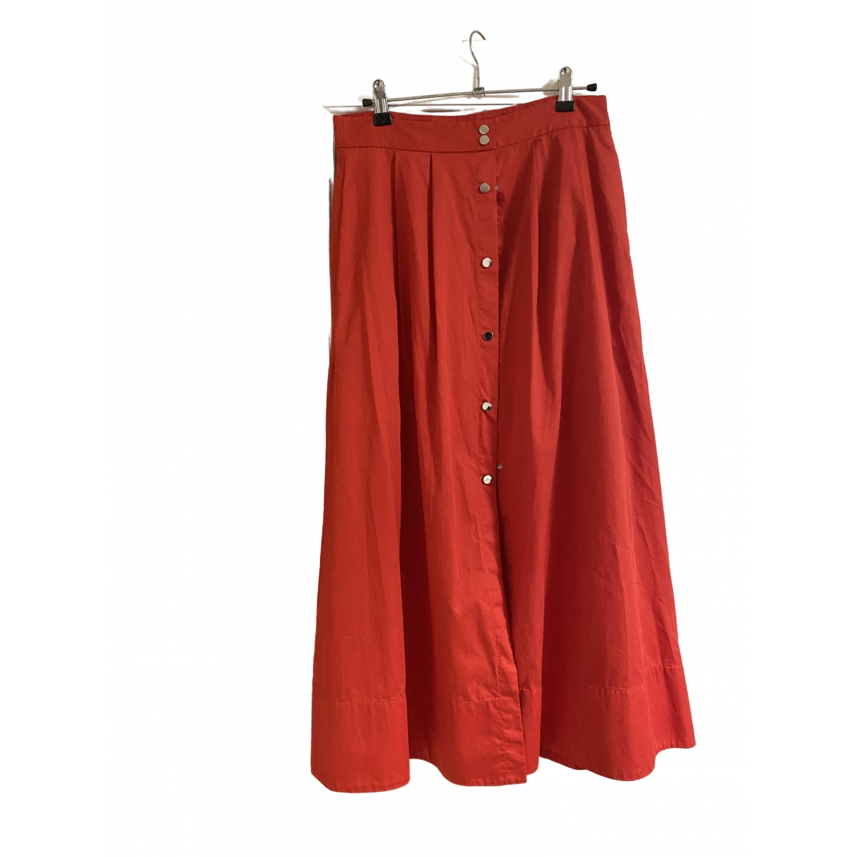 Maje - Jupe Spring Summer 2019 pour femme en coton - rouge