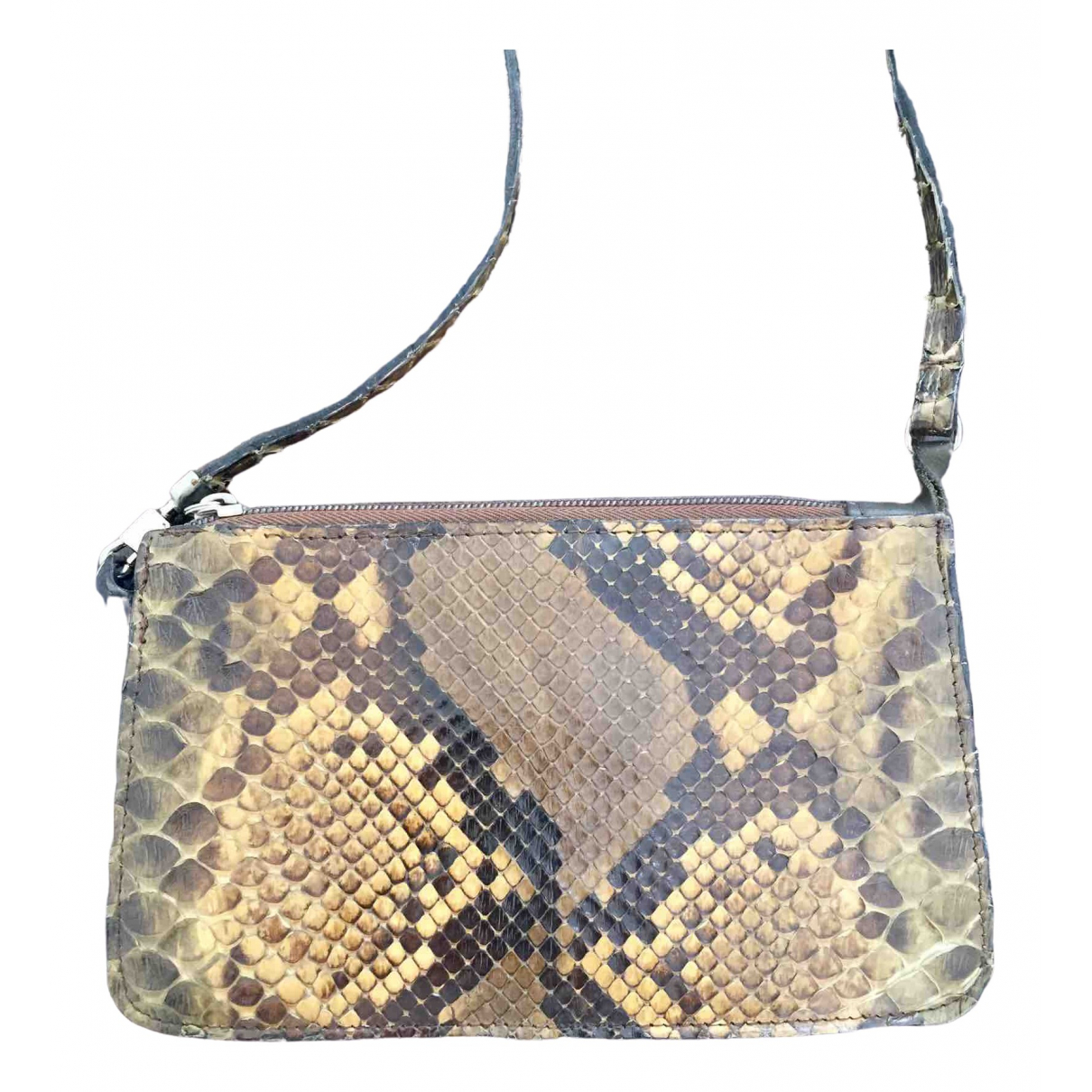 Non Signé / Unsigned \N Python handbag for Women \N