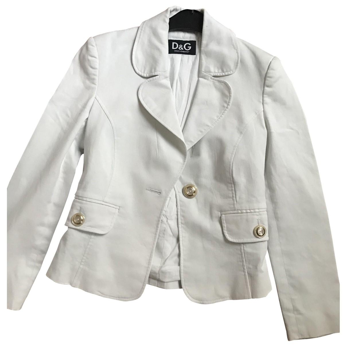 D&g \N White Cotton jacket for Women 38 IT