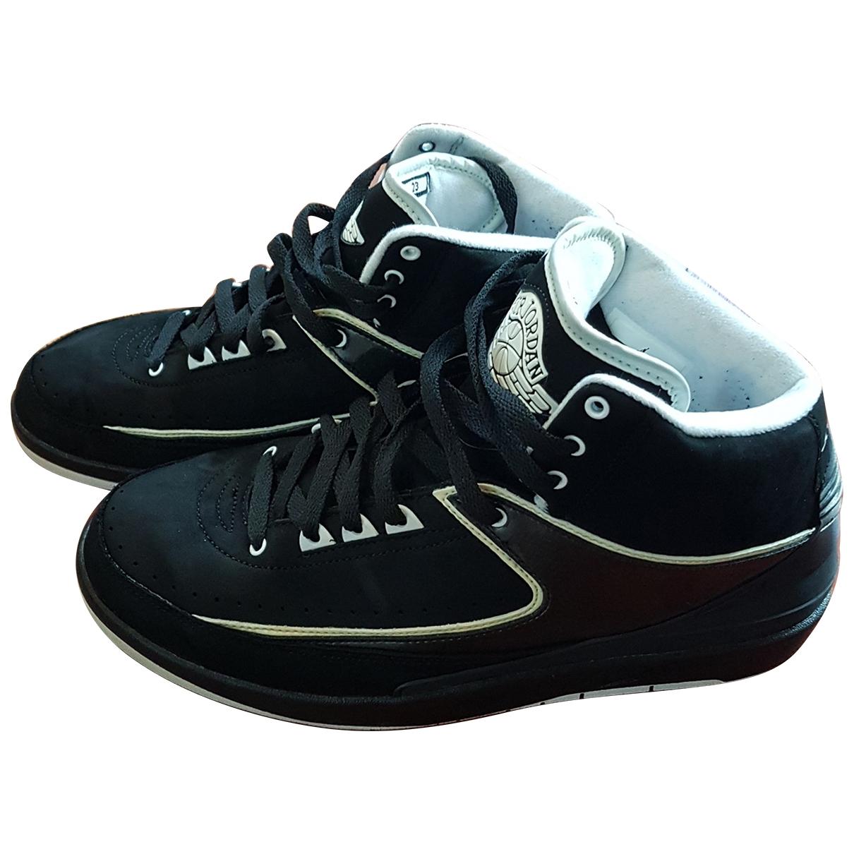 Jordan - Baskets Air Jordan 2  pour homme en suede - noir