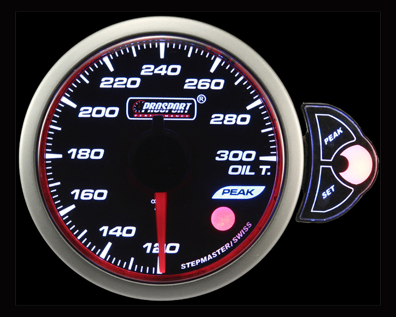 Prosport Performance Oil Temperature Gauge Electric with Sender | Blue | White | Amber