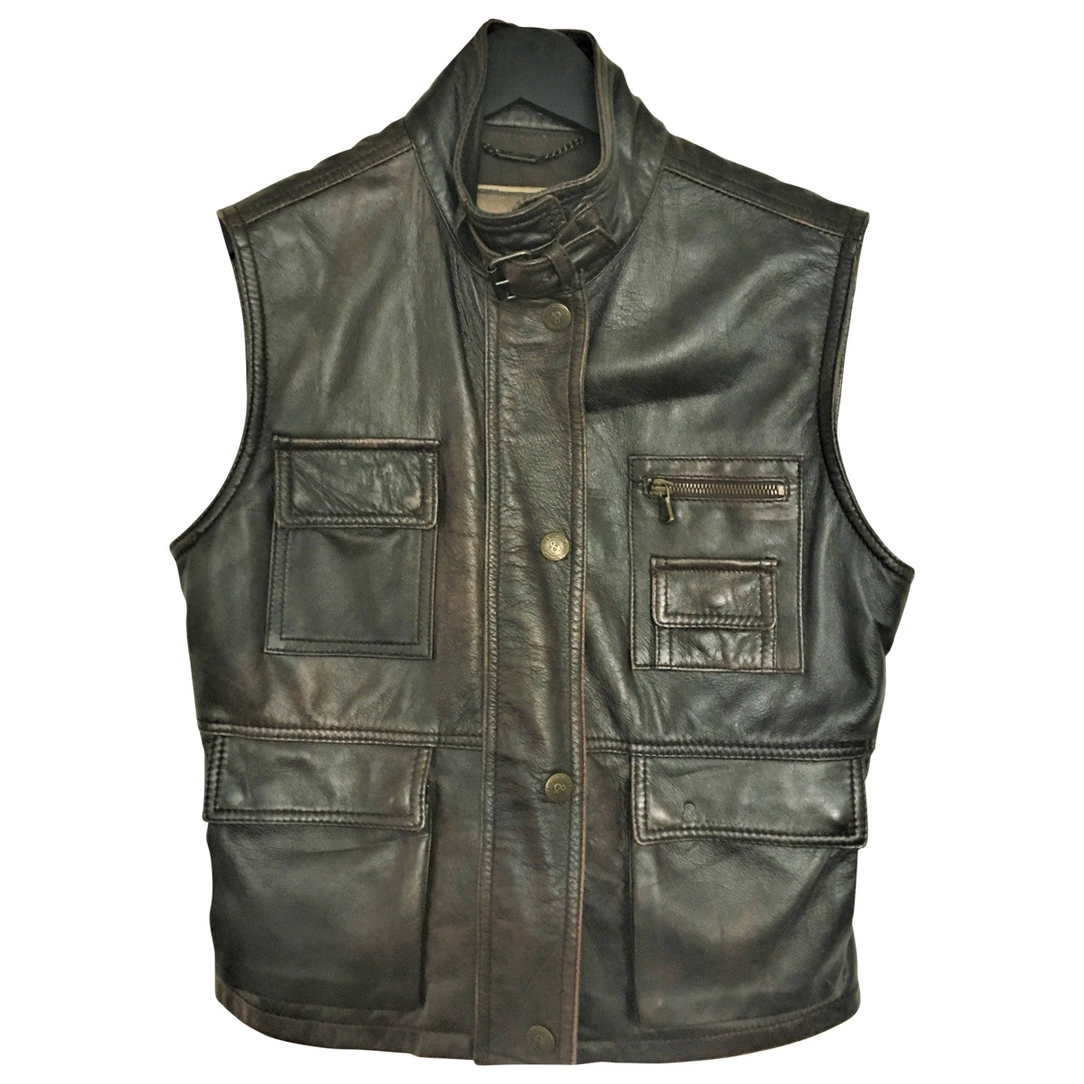 Dolce & Gabbana \N Brown Leather Leather jacket for Women 44 IT