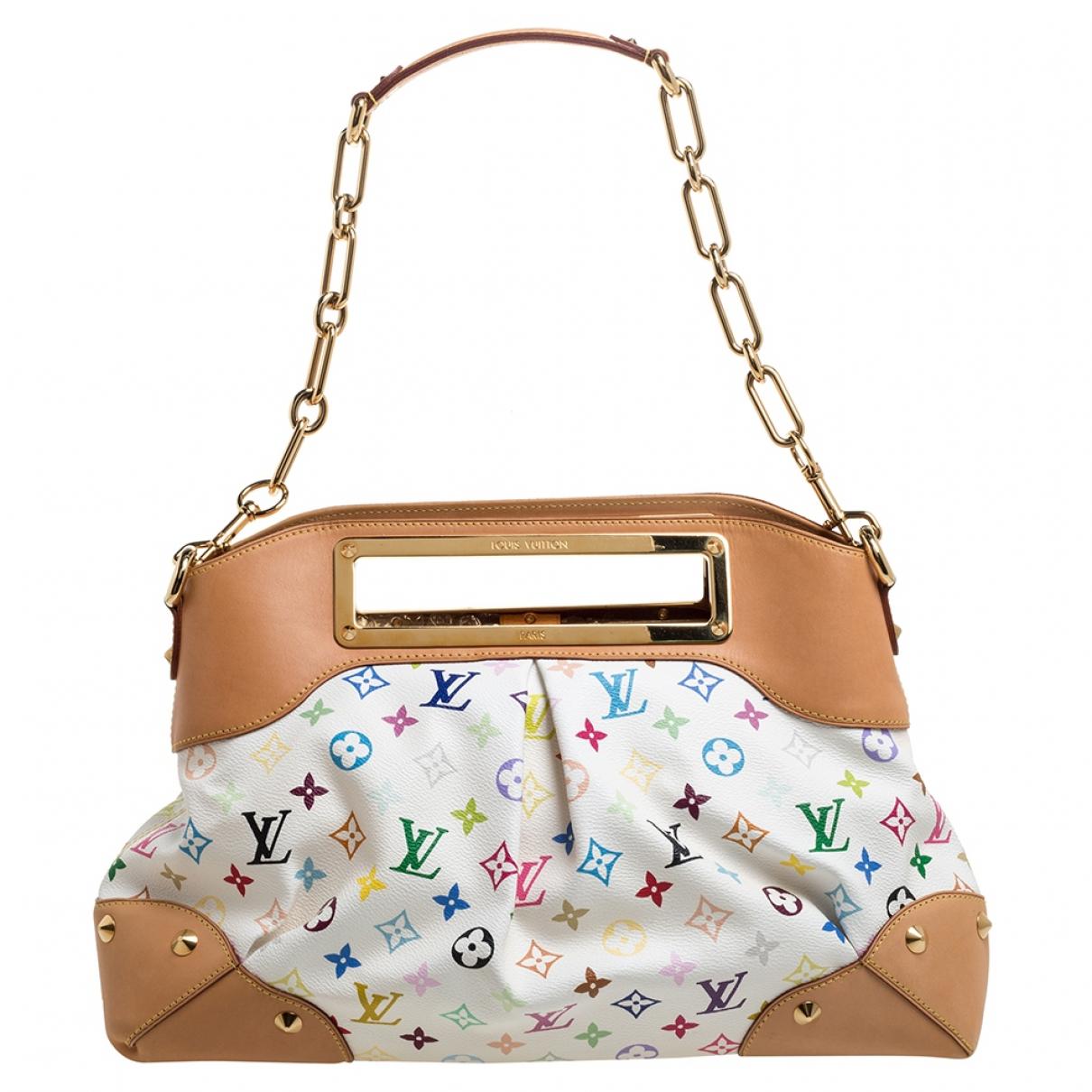 Louis Vuitton - Sac a main Judy pour femme en toile - blanc