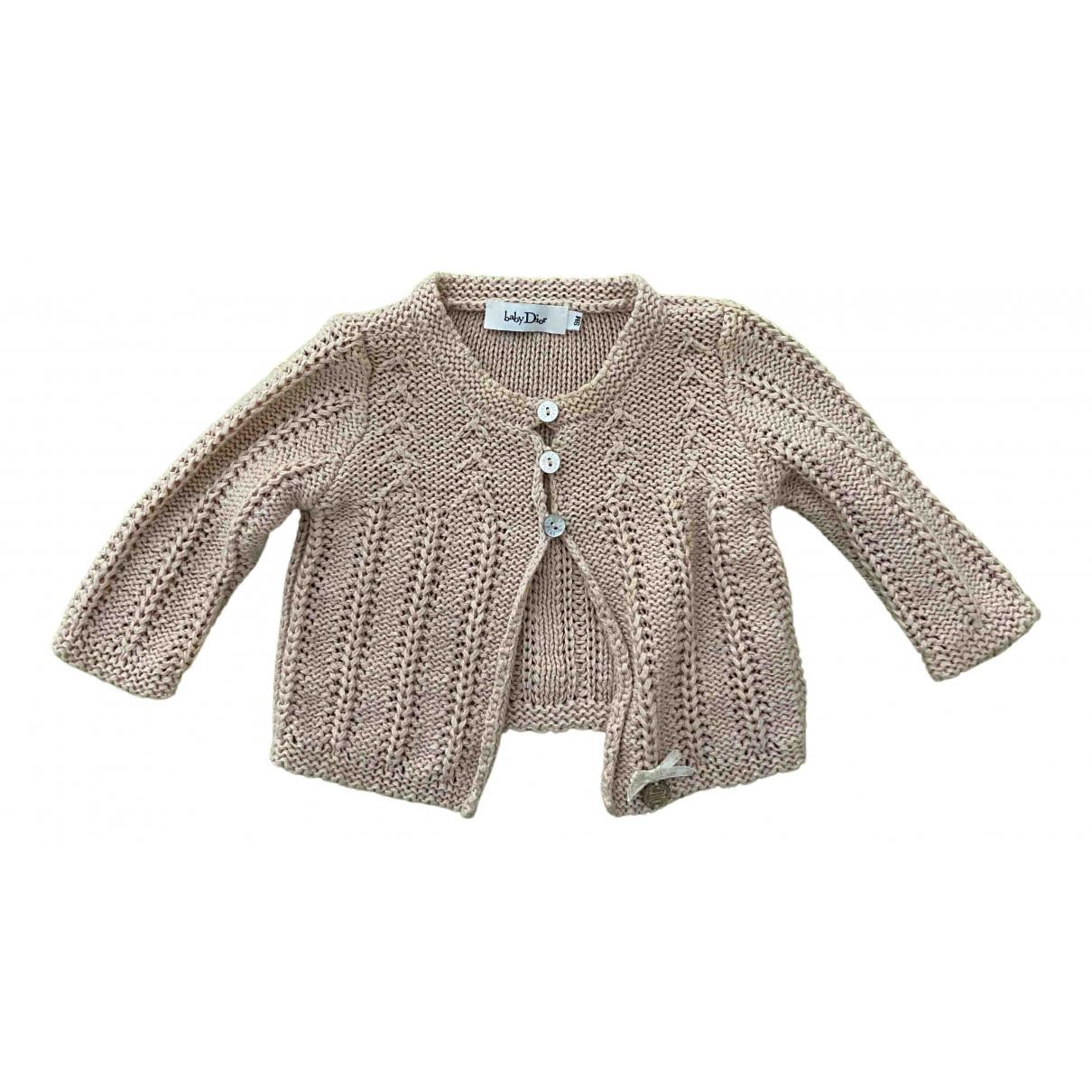 Baby Dior - Pull   pour enfant en laine - rose