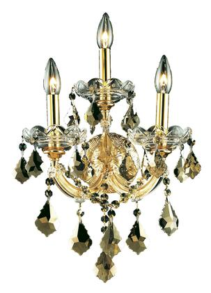 2800W3G-GT/SS 2800 Maria Theresa Collection Wall Sconce W12in H16in E8.5in Lt: 3 Gold Finish (Swarovski Strass/Elements Golden