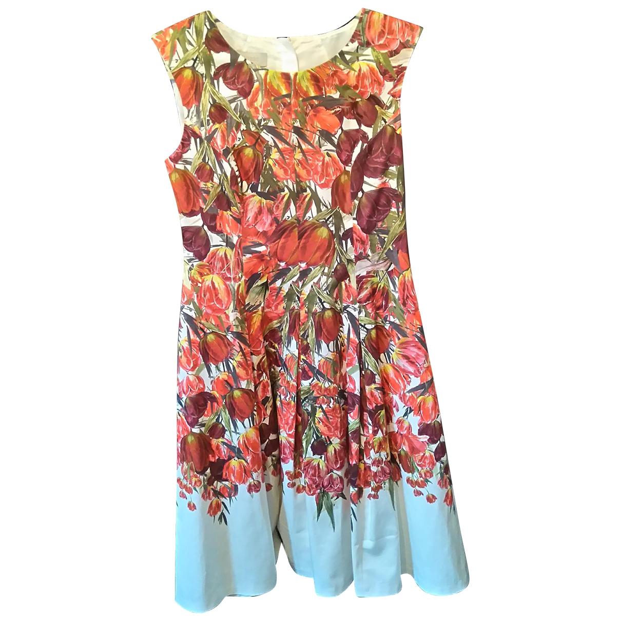 Hobbs \N Kleid in  Rot Baumwolle - Elasthan