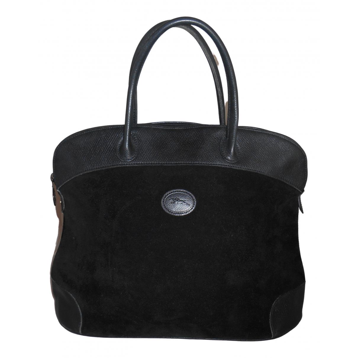 Longchamp \N Black Velvet handbag for Women \N