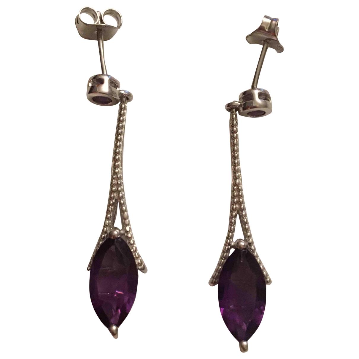 - Boucles doreilles Amethyste pour femme en vermeil - violet