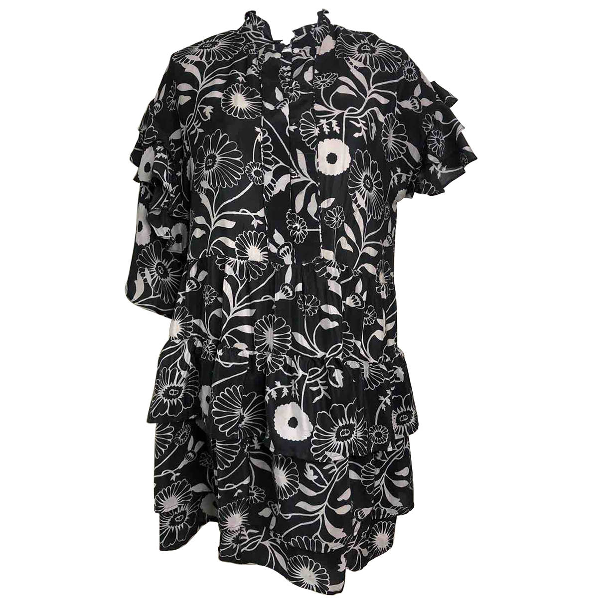 Non Signé / Unsigned \N Black Silk dress for Women S International