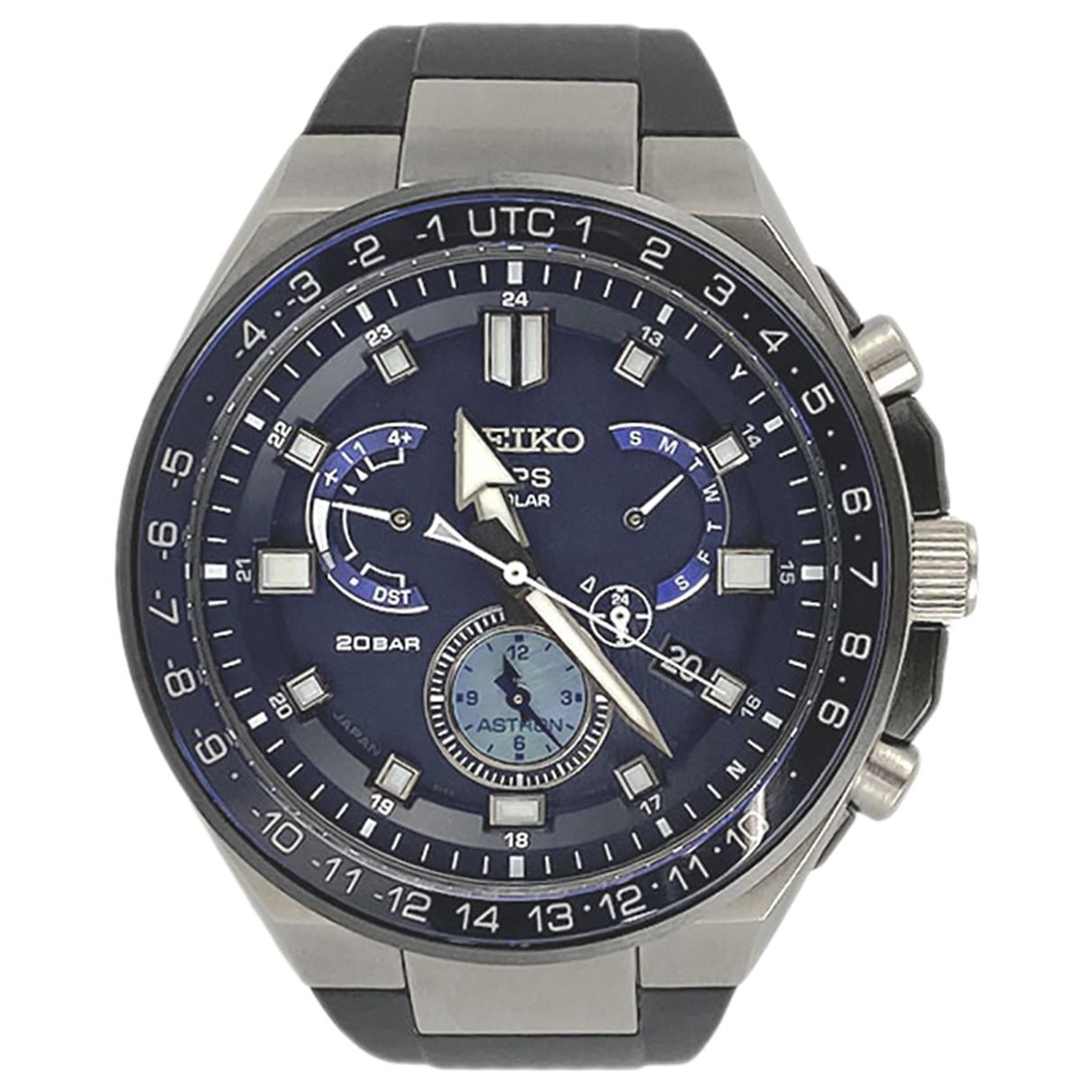 Seiko \N Uhr in  Blau Titan