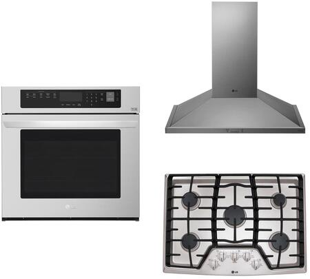 3 Piece Kitchen Appliances Package with LCG3011ST 30