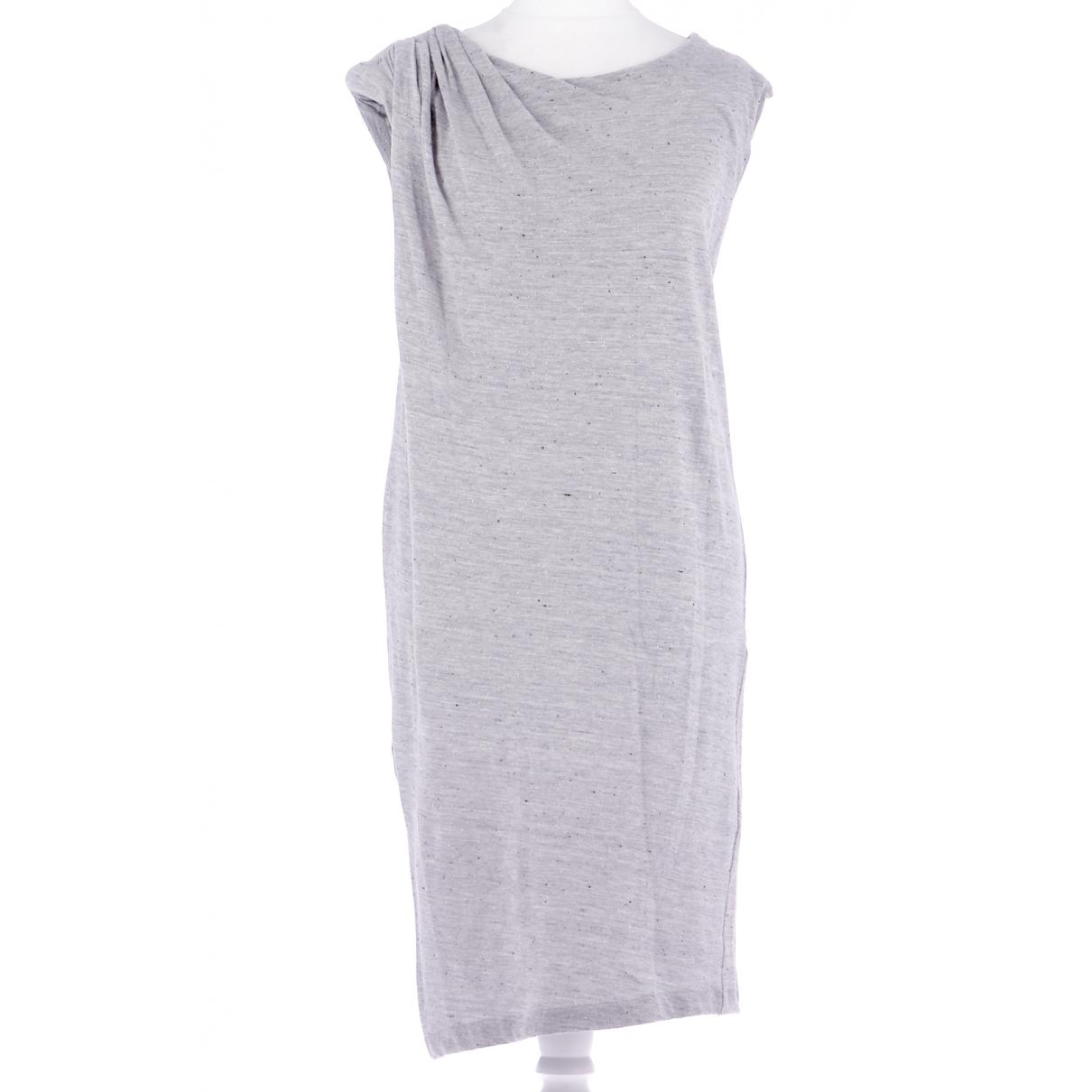 Sandro \N Kleid in  Grau Baumwolle