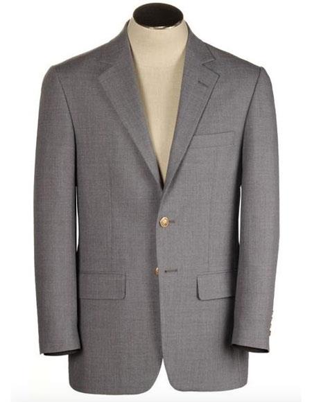 Men's Two Buttons Single Breasted Polyester Wool Blend
