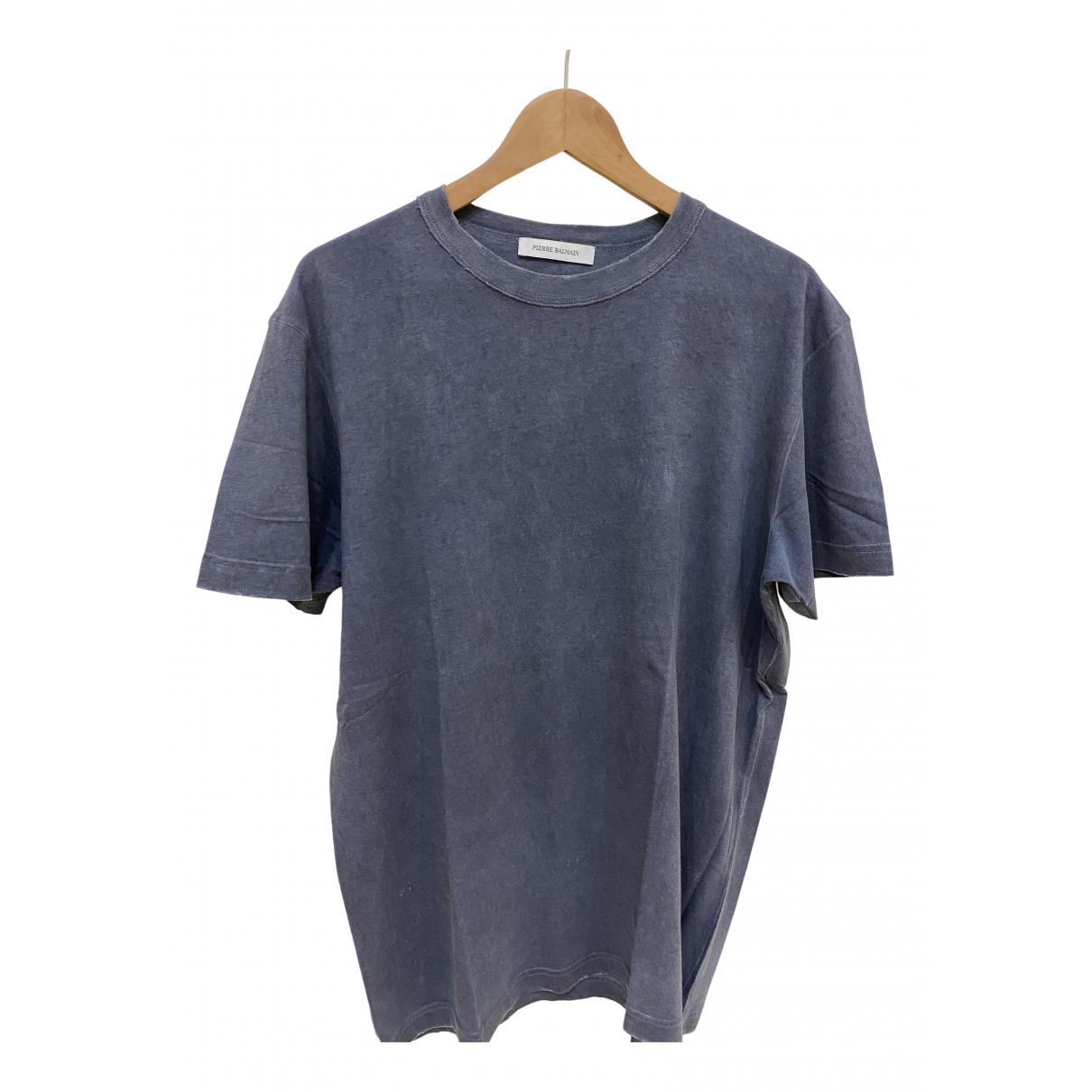 Pierre Balmain N Grey Cotton T-shirts for Men XL International