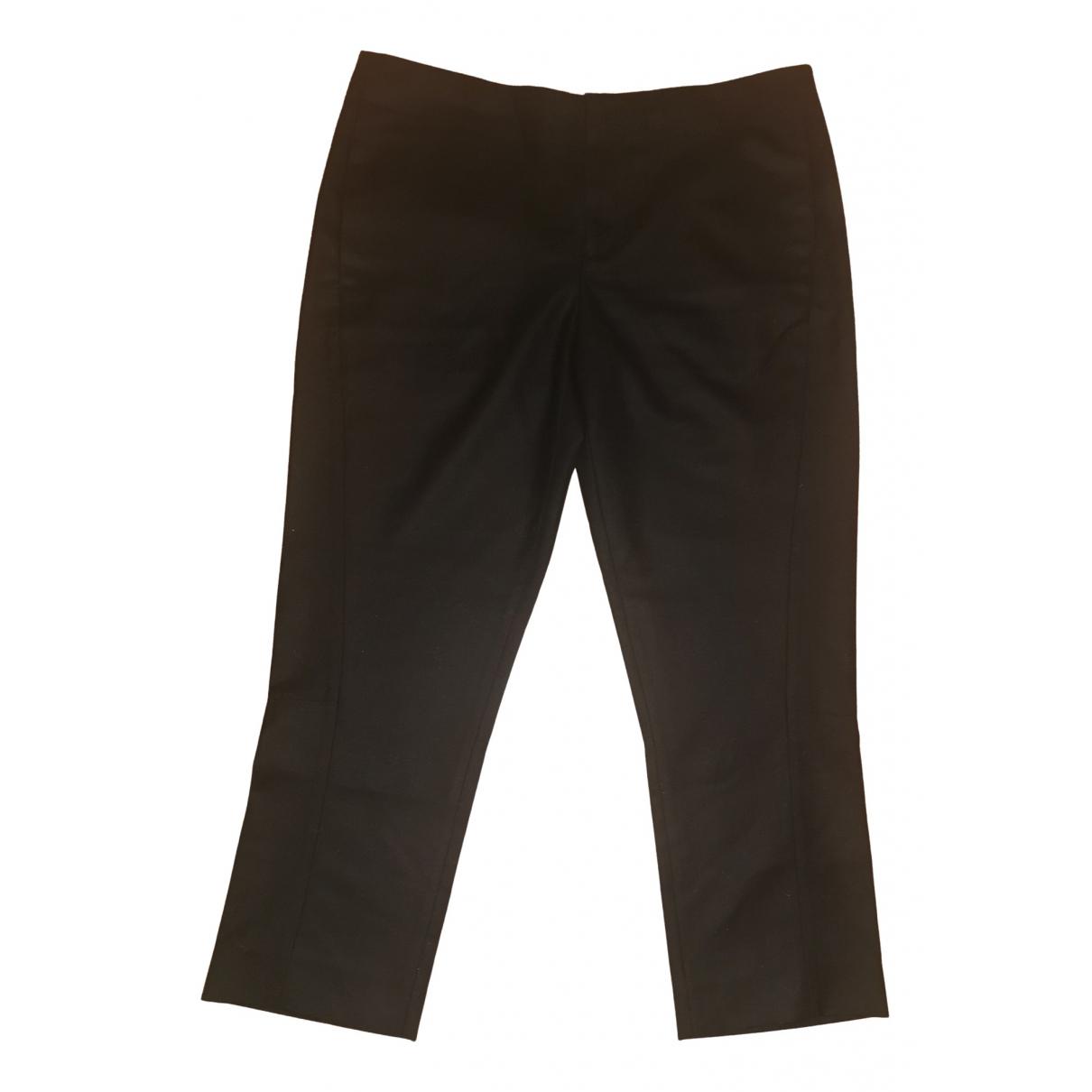 Marni \N Black Wool Trousers for Women 44 IT