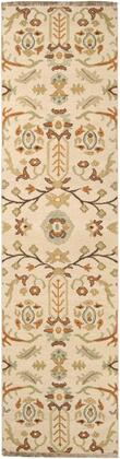Sonoma SNM-9002 4 x 6 Rectangle Traditional Rugs in Tan  Dark Brown  Burnt Orange  Ivory
