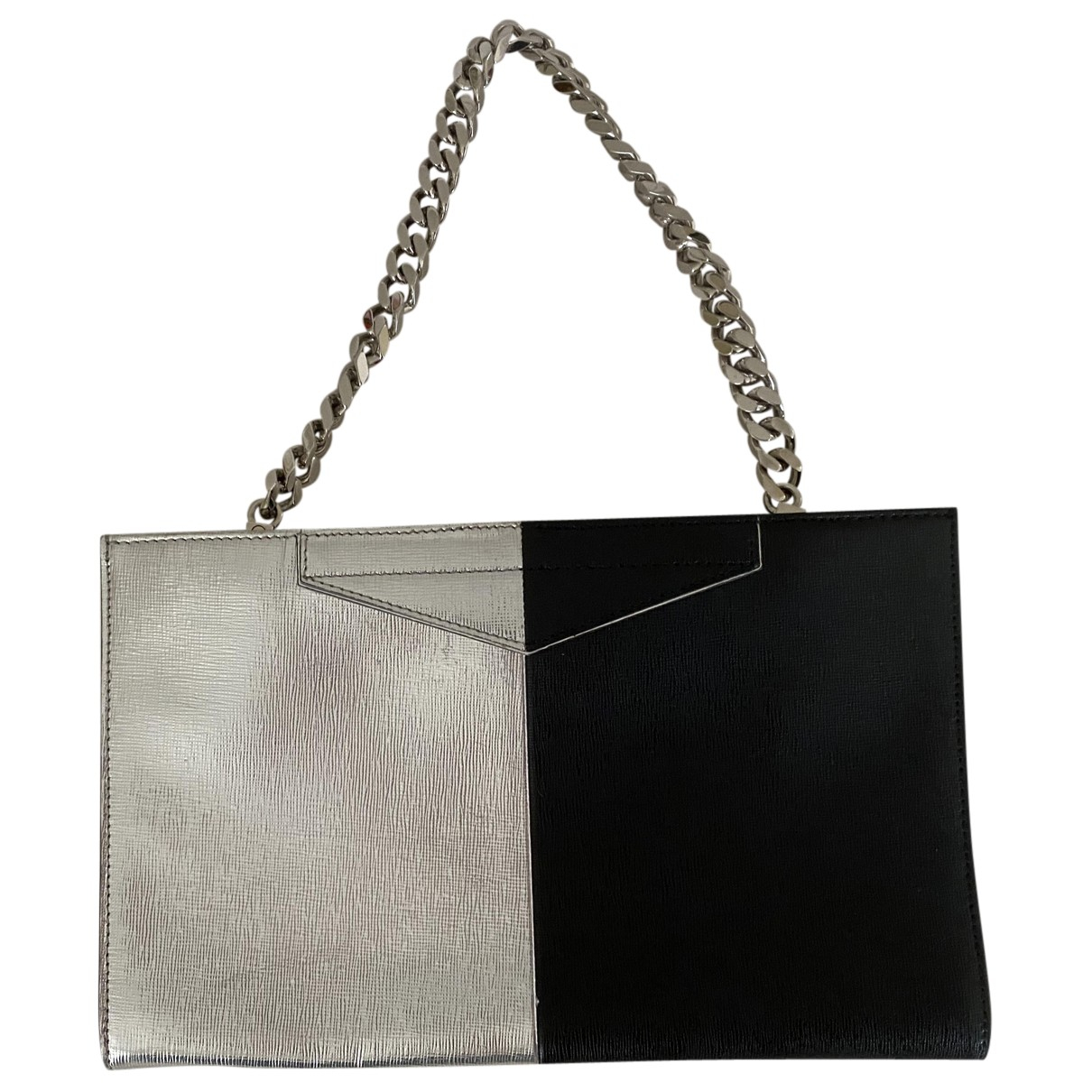 Fendi \N Clutch in  Silber Leder