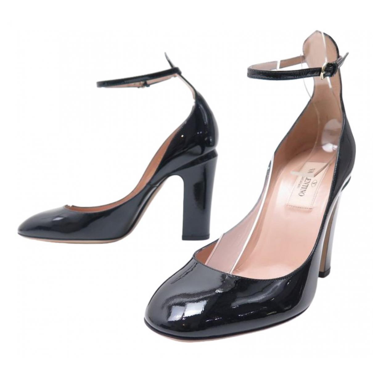 Valentino Garavani - Escarpins Tango pour femme en cuir verni - noir