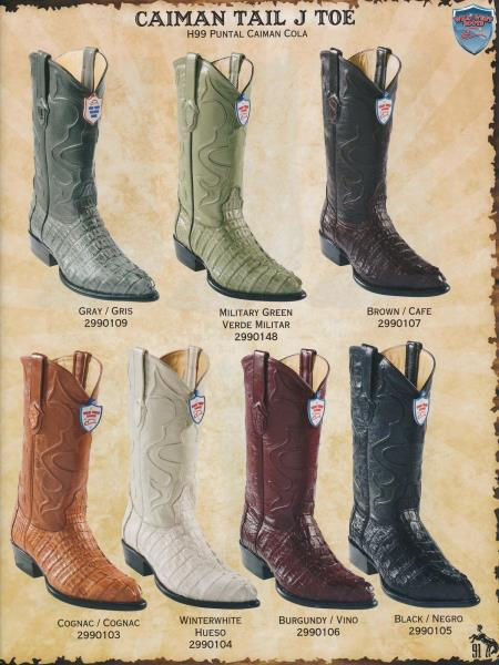 JToe Genuine Caiman TaMens Cowboy Western Boots Diff.Colors/Sizes